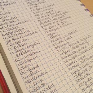 Language Notebook: Misc Vocab Page