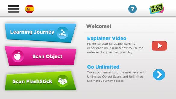 Flashsticks app home