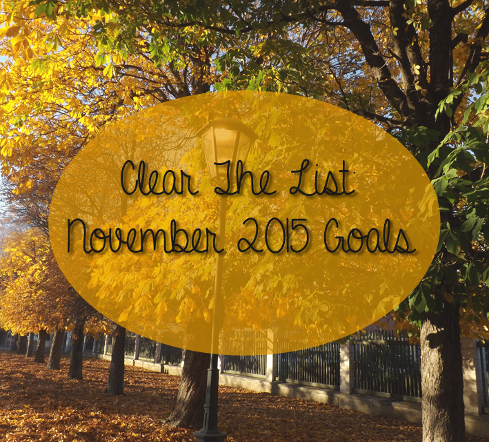 Clear the List Nov 2015