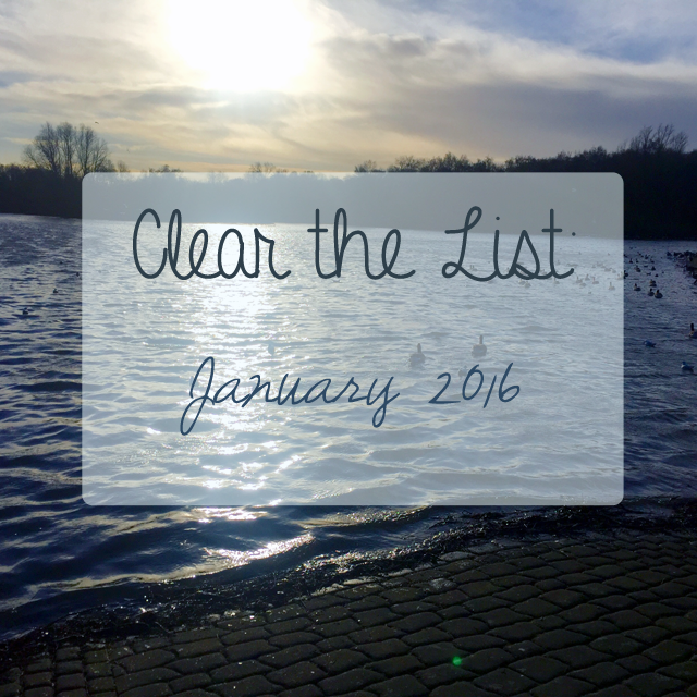 Clear the List Jan 2016
