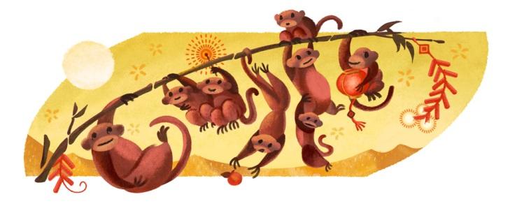猴年大吉!新年快乐!| 学习Sprachen