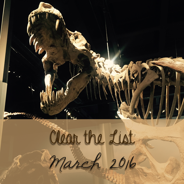 Clear the List: March 2016 | 学习Sprachen