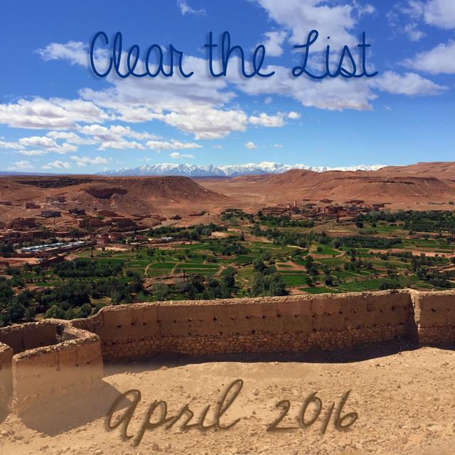 Clear the List: April 2016 | 学习Sprachen