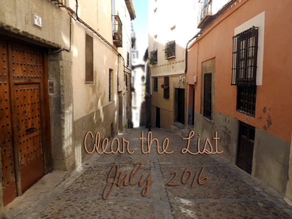 Clear the List July 2016