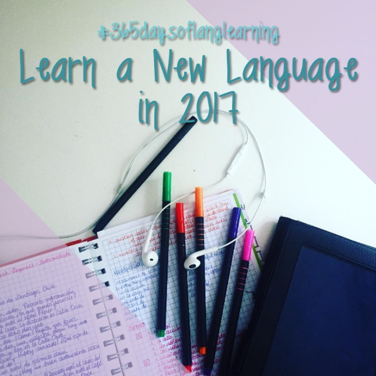#365daysoflanglearning - Learn a New Language in 2017