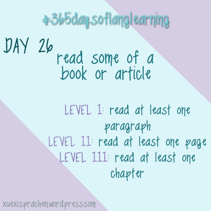 #365daysoflanglearning - Day 26