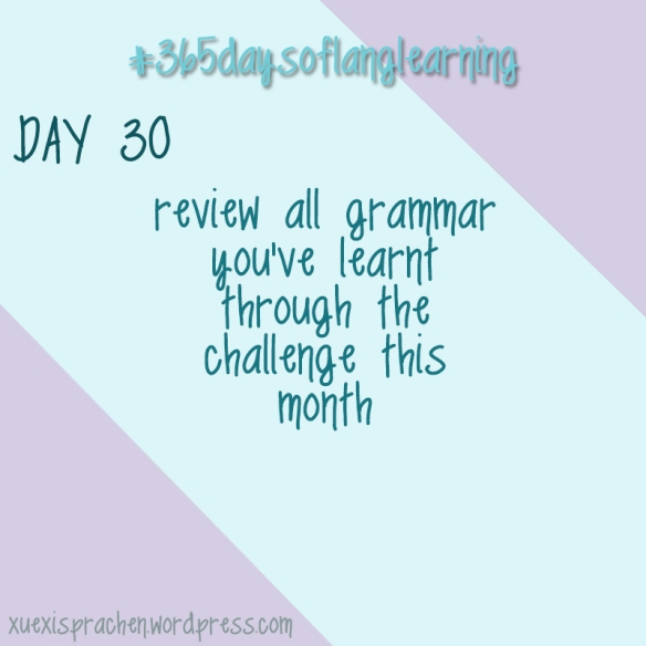 #365daysoflanglearning - Day 30