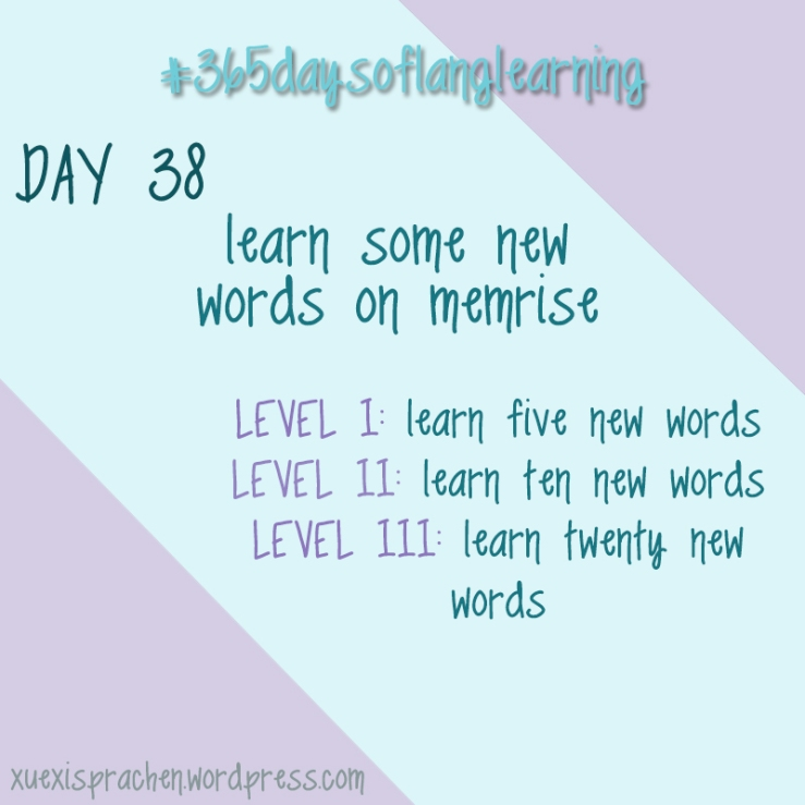 #365daysoflanglearning - Day 38
