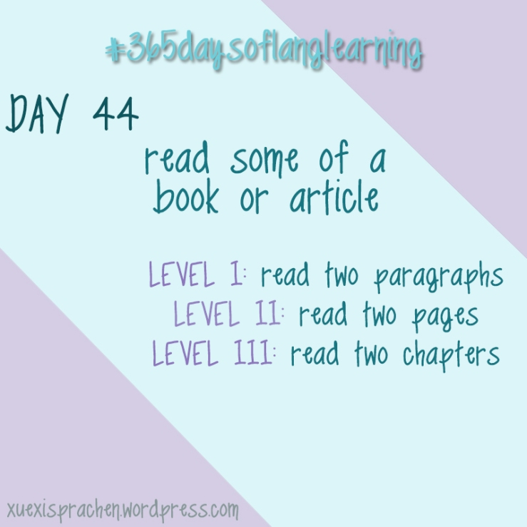 #365daysoflanglearning - Day 44