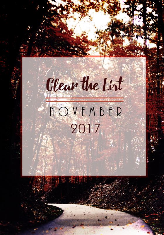 Clear the List: November 2017