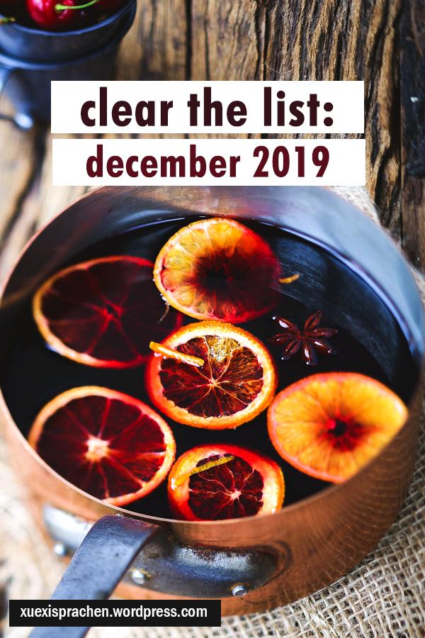 clear the list december 2019