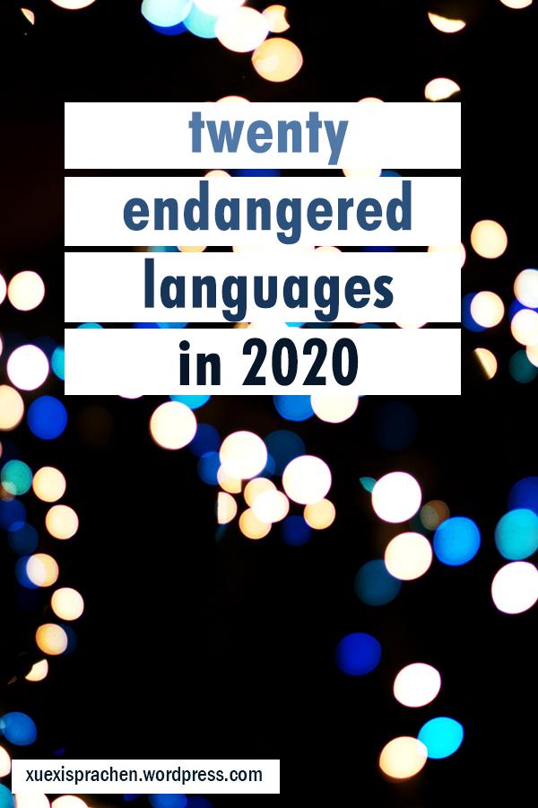20 languages in 2020