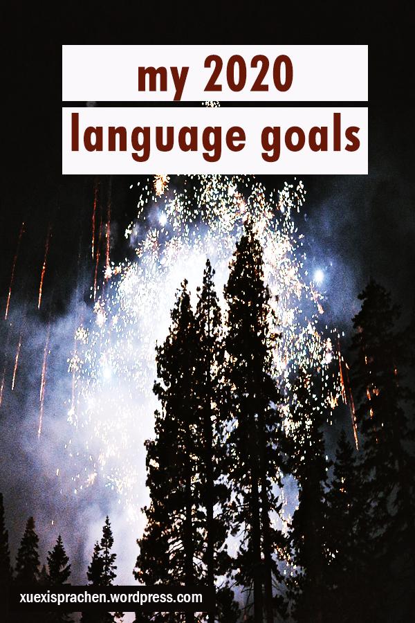 my 2020 language goals