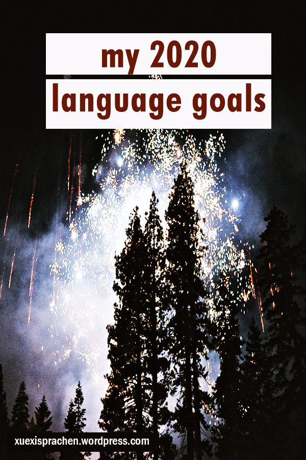 my 2020 language goals